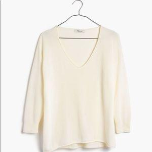 Madewell Cream Shorelight Pullover Sweater